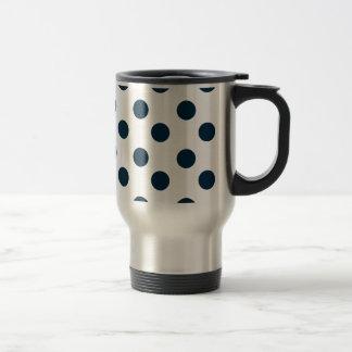 Navy Blue Polka Dot Travel Mug