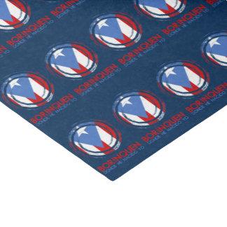 Navy Blue Print Puerto Rico Borinquen Tissue Paper