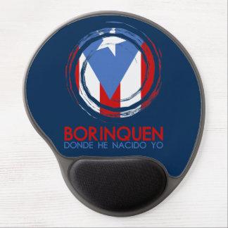 Navy Blue Puerto Rico Borinquen Gel Mouse Pad