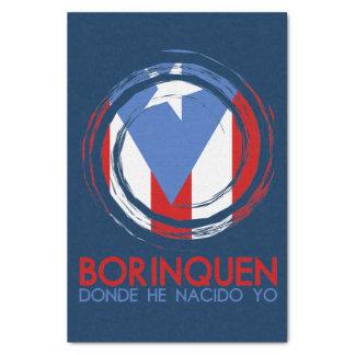 Navy Blue Puerto Rico Borinquen Tissue Paper