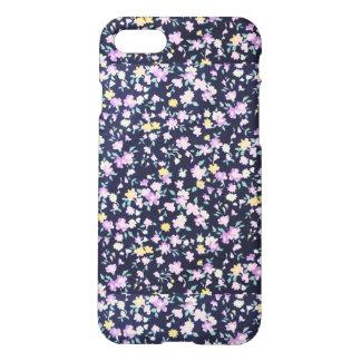 Navy Blue & Purple Floral Iphone 7 Matte Case