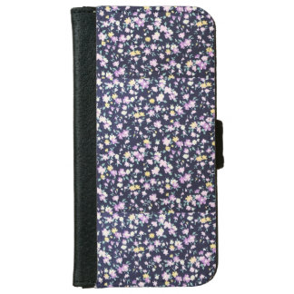 Navy Blue & Purple Iphone 6/6s Wallet Phone Case