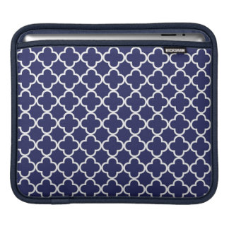 Navy Blue Quatrefoil iPad Sleeve