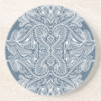 Navy Blue, Raven of mirrors, dreams, bohemian Coaster