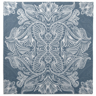 Navy Blue, Raven of mirrors, dreams, bohemian Napkin