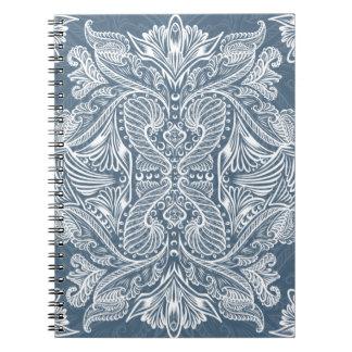 Navy Blue, Raven of mirrors, dreams, bohemian Notebook
