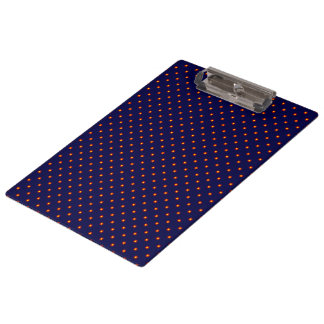 Navy Blue Retro Print Clipboard