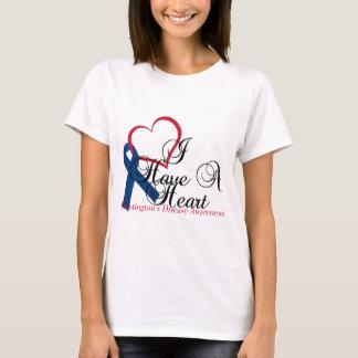 Navy Blue Ribbon Huntington's Disease Awareness T-Shirt
