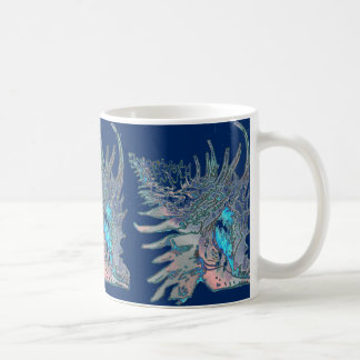 Navy Blue Rock Snail Shell Coffee Mug