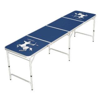 Navy Blue Sagittarius Zodiac Beer Pong Table