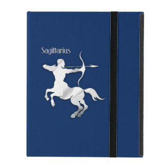 Navy Blue Sagittarius Zodiac iPad Case