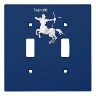 Navy Blue Sagittarius Zodiac Light Switch Cover