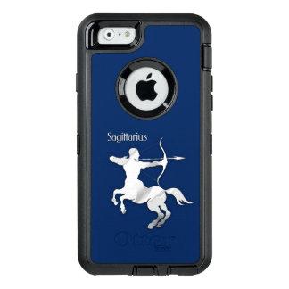Navy Blue Sagittarius Zodiac OtterBox Defender iPhone Case