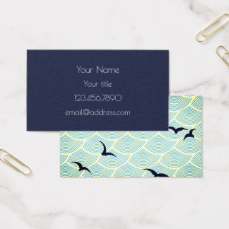 Navy Blue, Seagulls Business Card