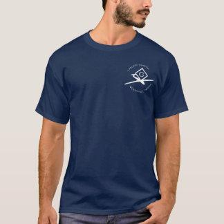 Navy Blue-short sleeve_white lettering T-Shirt
