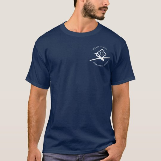 Navy Blue-short sleeve_white lettering T-Shirt