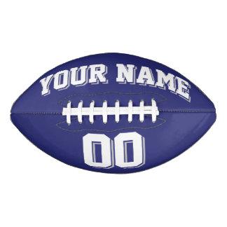 NAVY BLUE SILVER GRAY AND WHITE Custom Football