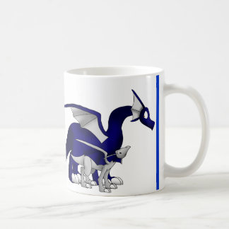 Navy Blue/Silver Mother and Child Dragons Mug