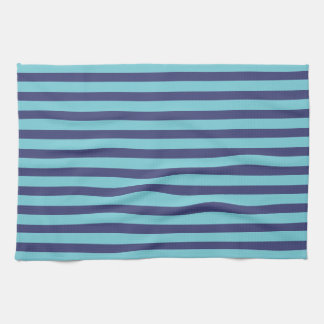 Navy Blue & Sky Blue Stripes Kitchen Towel
