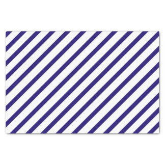 Navy Blue Stripe Tissue Paper