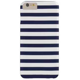 Navy Blue Stripes Barely There iPhone 6 Plus Case
