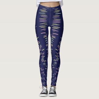 Navy Blue Stripes Leggings