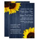 Navy Blue & Sunflower Wedding Invitation