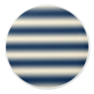 Navy blue to sandy yellow gradient ceramic knob