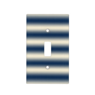 Navy blue to sandy yellow gradient light switch cover