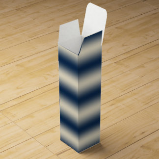Navy blue to sandy yellow gradient wine boxes