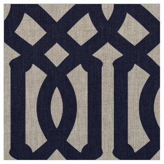 Navy Blue Trellis Large Scale Fabric