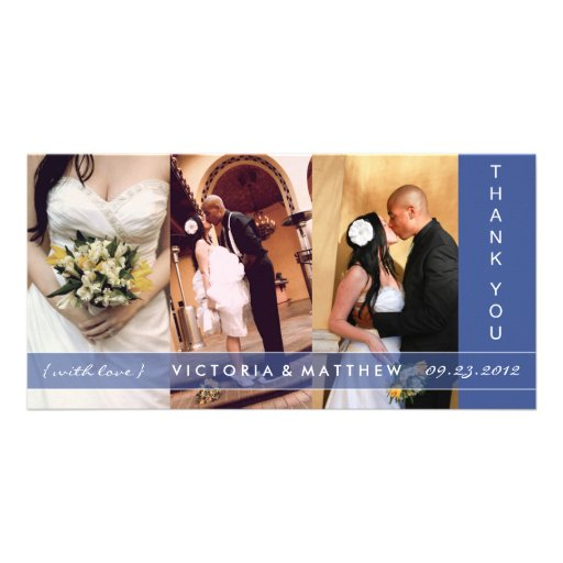 NAVY BLUE UNION | WEDDING THANK YOU CARD PHOTO CARD TEMPLATE
