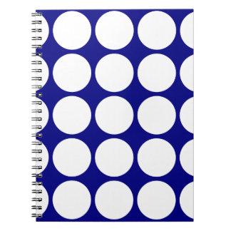 Navy Blue w/ Large White Polka Dots Notebook