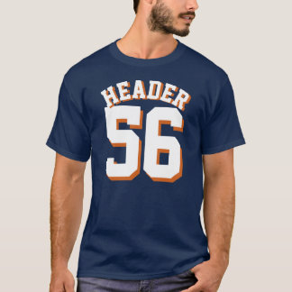 Navy Blue & White Adults | Sports Jersey Design T-Shirt