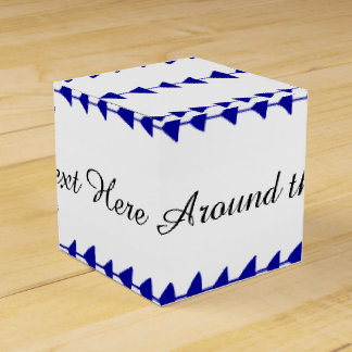 Navy Blue White Aztec Arrows Pattern Wedding Favor Boxes