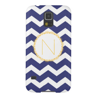 Navy Blue & White Chevron Nexus Case (Monogrammed)