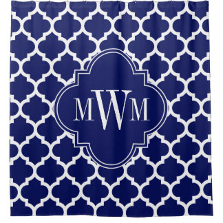 Navy Blue White Moroccan #5 Navy Blue 3I Monogram