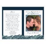 Navy Blue White Nautical Wedding Ceremony Programs