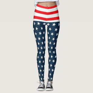 6729f86689 Women's Navy Blue White Stripes Leggings & Tights | Zazzle CA