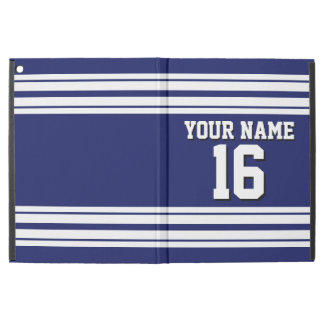 Navy Blue White Team Jersey Custom Number Name