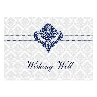 """""""navy blue"""" wishing well cards large business cards (Pack of 100)"""