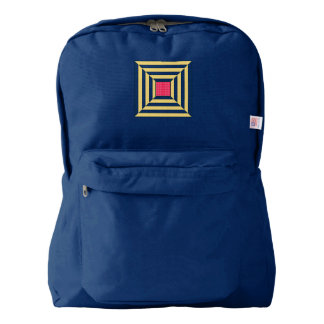 Navy blue with squares backpack