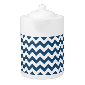 Navy Blue Zigzag Stripes Chevron Pattern