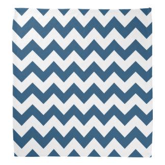 Navy Blue Zigzag Stripes Chevron Pattern Head Kerchiefs