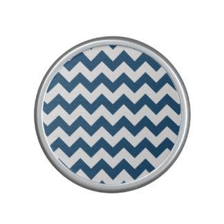 Navy Blue Zigzag Stripes Chevron Pattern Speaker