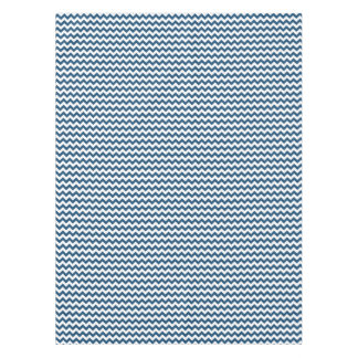 Navy Blue Zigzag Stripes Chevron Pattern Tablecloth