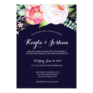 Navy Blush Invitation