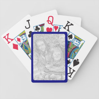 Navy Border for Photo Bicycle® Playing Cards