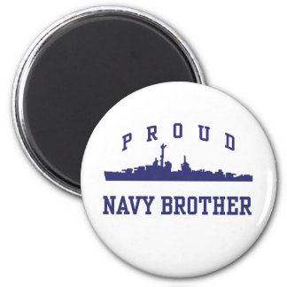 Navy Brother 2 Inch Round Magnet