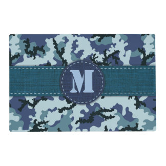 Navy camouflage laminated place mat